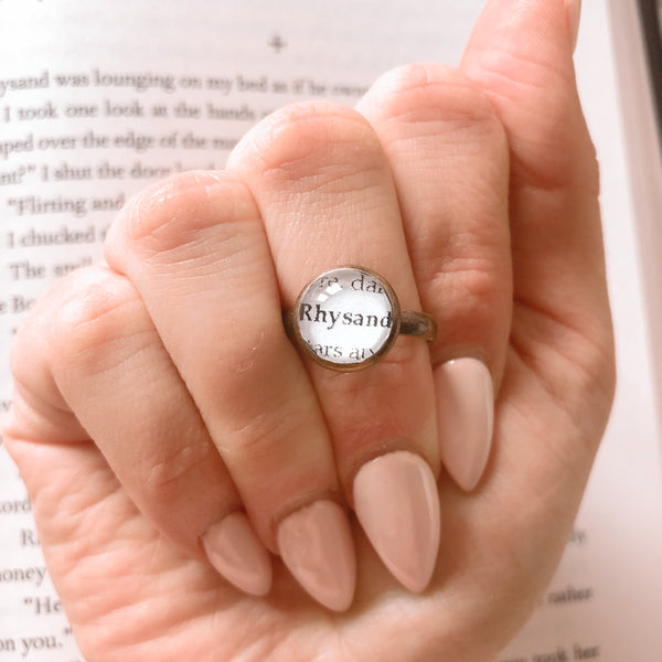 Personalised Book Boyfriend adjustable ring