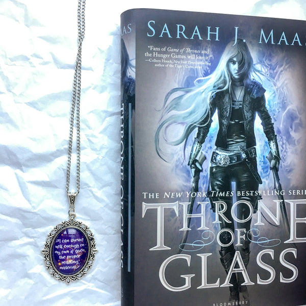 Throne of Glass Reading Quote Necklace