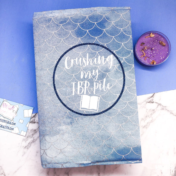 Fabric Dust Jacket - 'crushing my TBR'