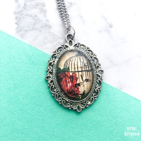 Bird cage necklace - small