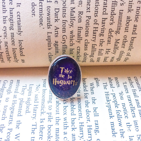 Take Me To Hogwarts adjustable ring