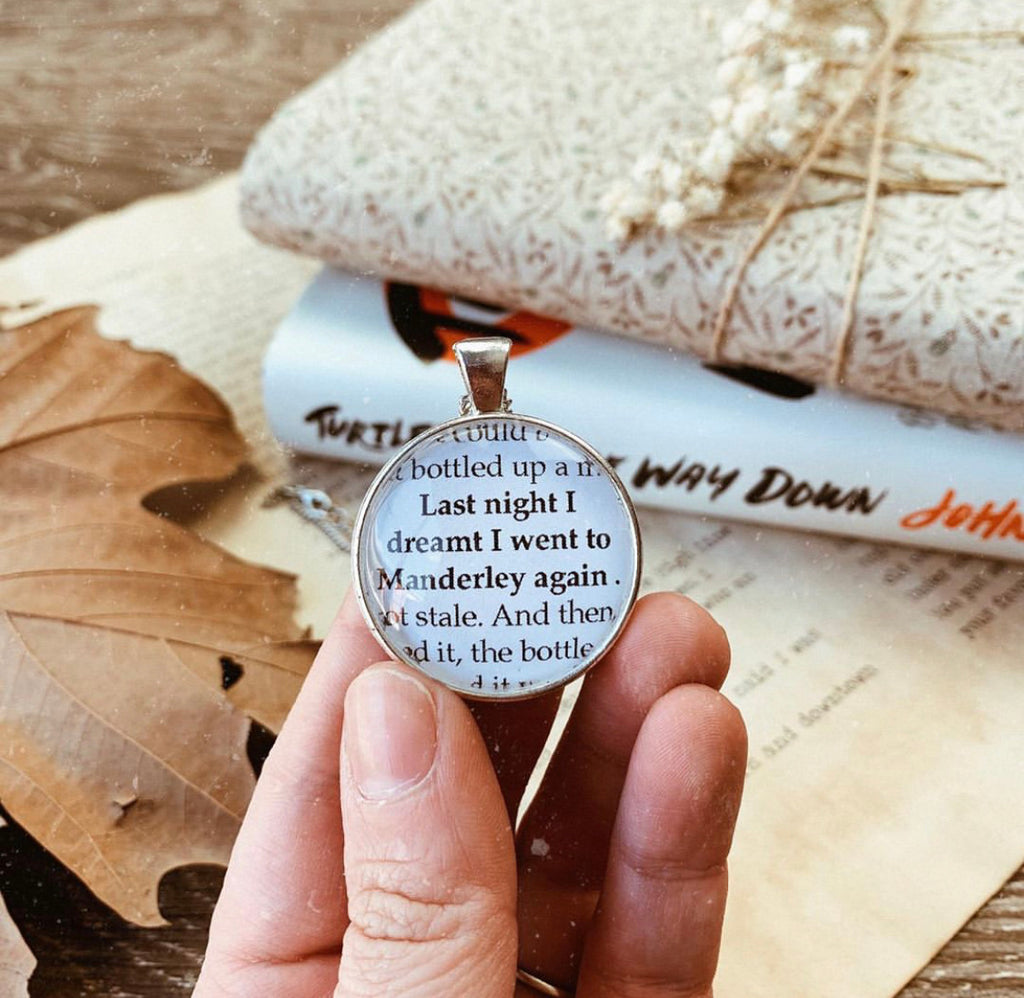 Rebecca - Classic First Line quote necklace