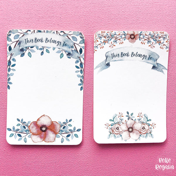 Floral Bookplates ~ Book Labels