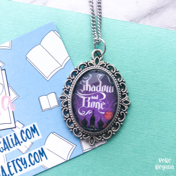 Shadow and Bone book cover necklace - small