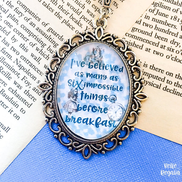 Six Impossible Things - Alice in Wonderland Necklace
