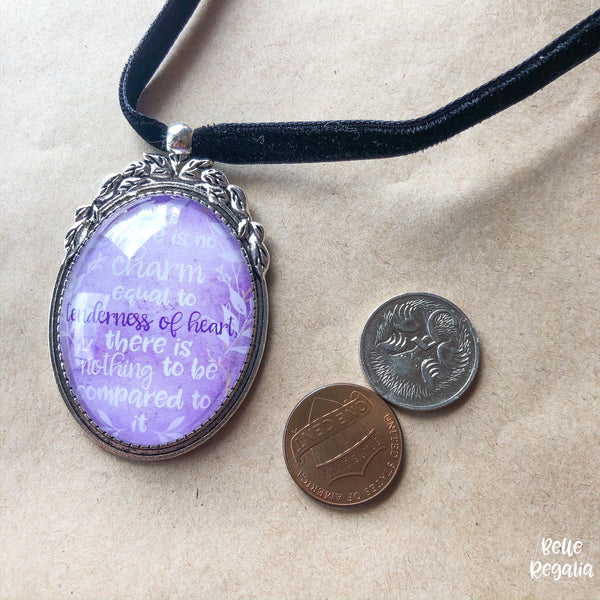 Emma quote Necklace ~ Tenderness of Heart