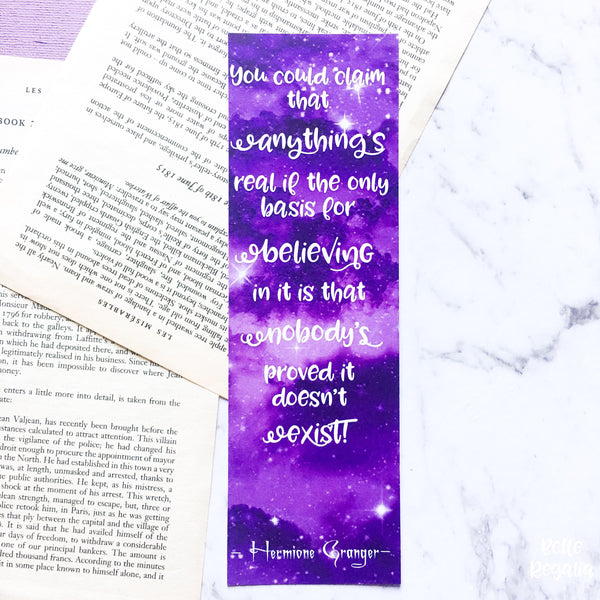 Hermione Quote Bookmark - Belle Regalia