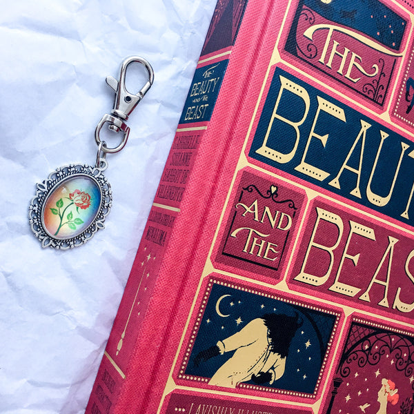 Beauty and the Beast Enchanted Rose Keyring - Belle Regalia
