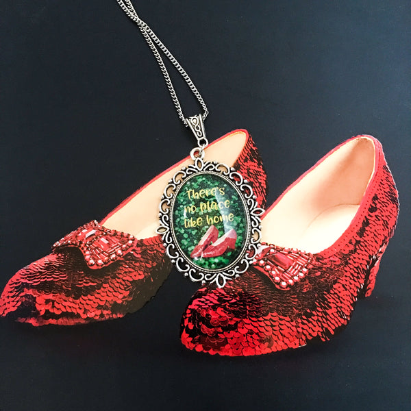"Wizard of Oz ""there's no place like home"" necklace"