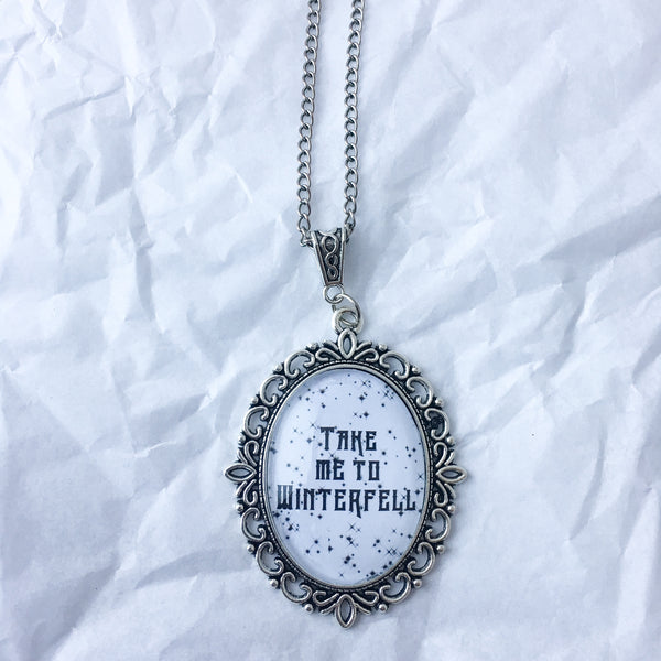 Take Me To Winterfell Necklace