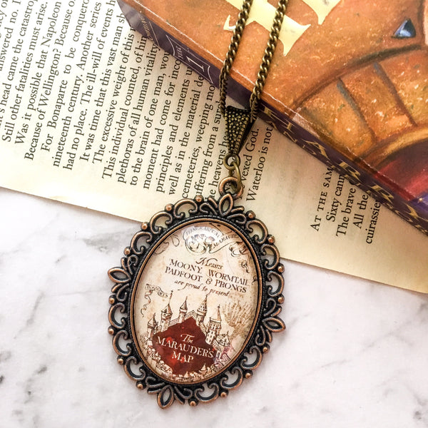 Marauder's Map Necklace - Belle Regalia