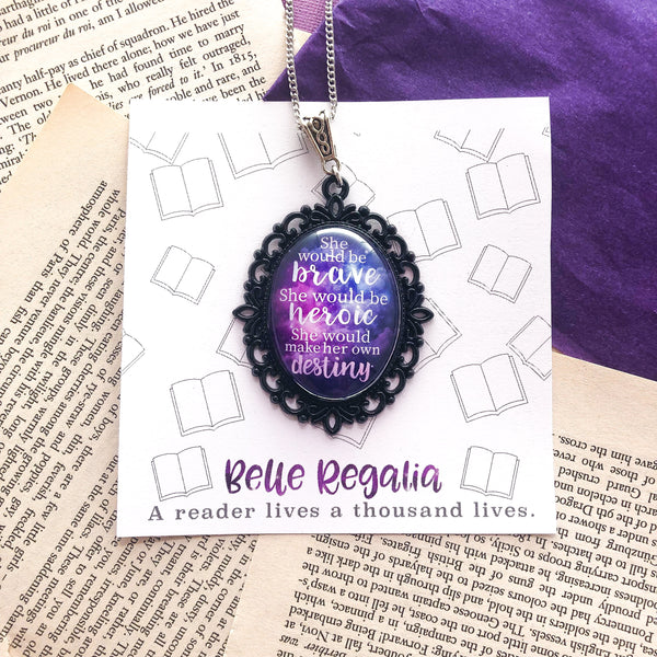 The Lunar Chronicles quote necklace