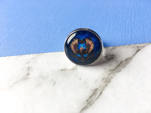 HP House Crest Adjustable Ring