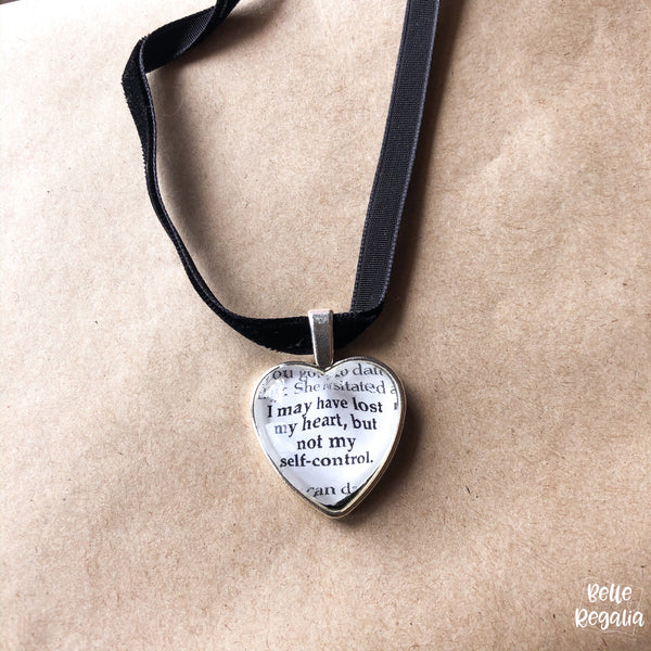 Emma quote Heart Necklace