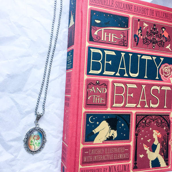 Beauty and the Beast Enchanted Rose Necklace - Belle Regalia