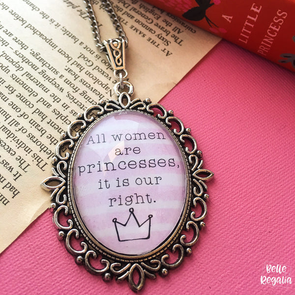 A Little Princess quote necklace