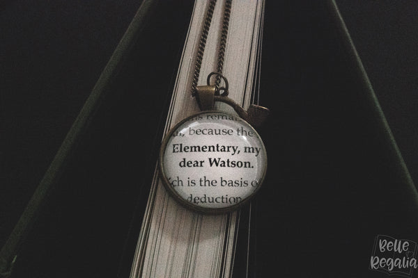 'Elementary, my dear Watson' necklace
