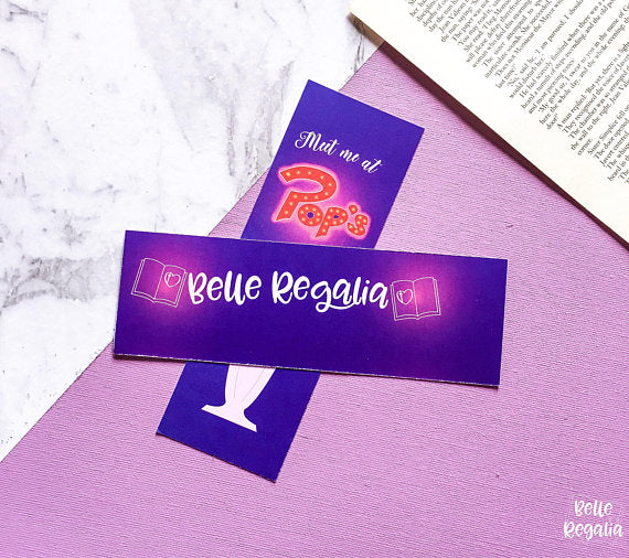Meet Me At Pop's bookmark - Belle Regalia