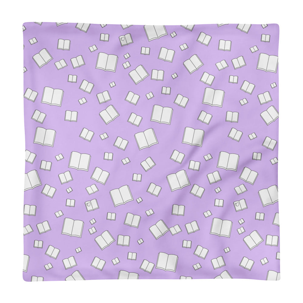 Lilac Flying Books Square Pillow Case only
