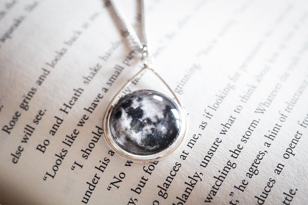 Moon Teardrop pendant necklace