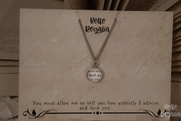 Personalised Book Boyfriend minimal necklace