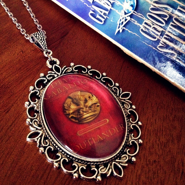 Outlander 20th Anniversary Book Cover Necklace (large) - Belle Regalia - 1