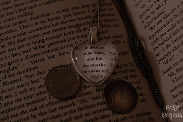 Emma Mr Knightley quote ~ heart necklace