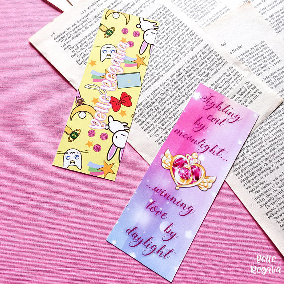 Sailor Moon bookmark - Fighting evil by moonlight, winning love by daylight