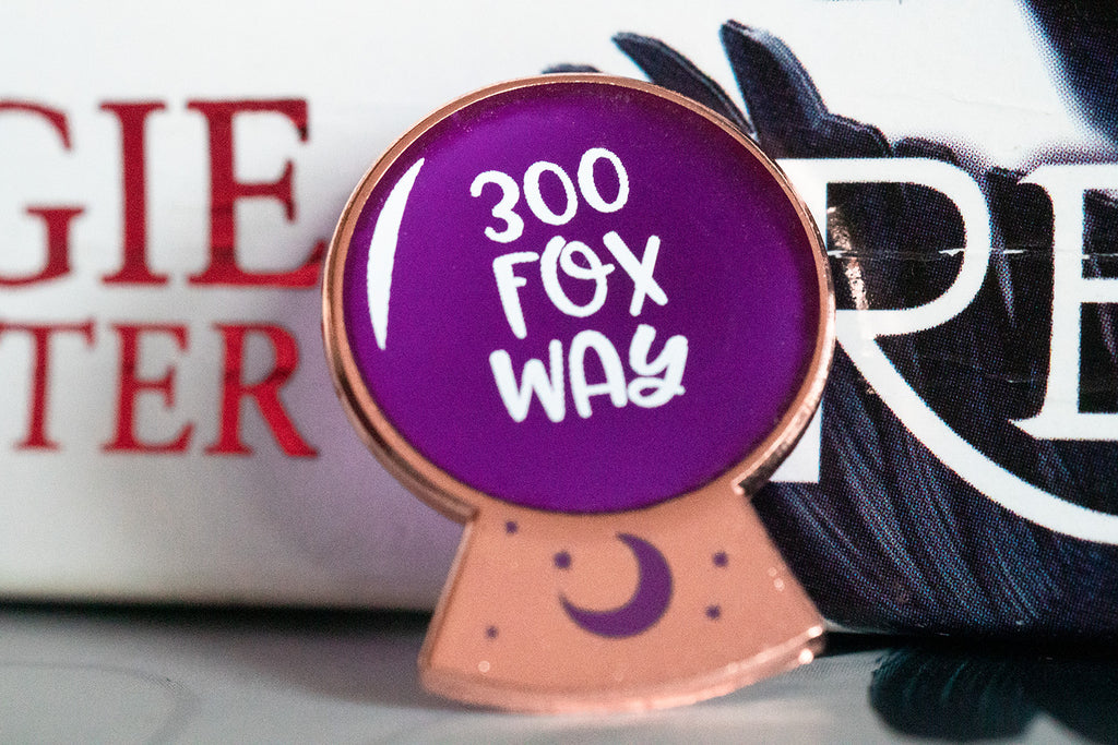 See-through 300 Fox Way Enamel Pin