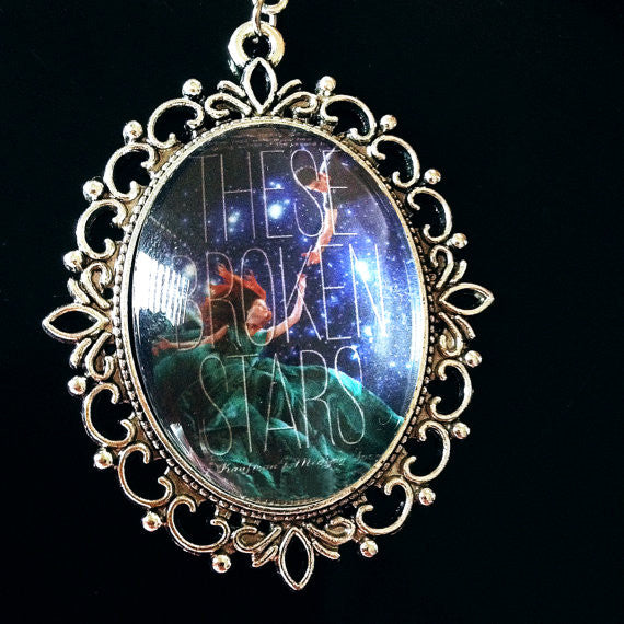 These Broken Stars Book Cover Necklace (large) - Belle Regalia - 1