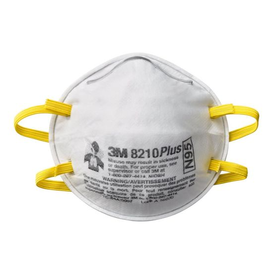 3M 8210 PLUS NIOSH Approved N95 Mask