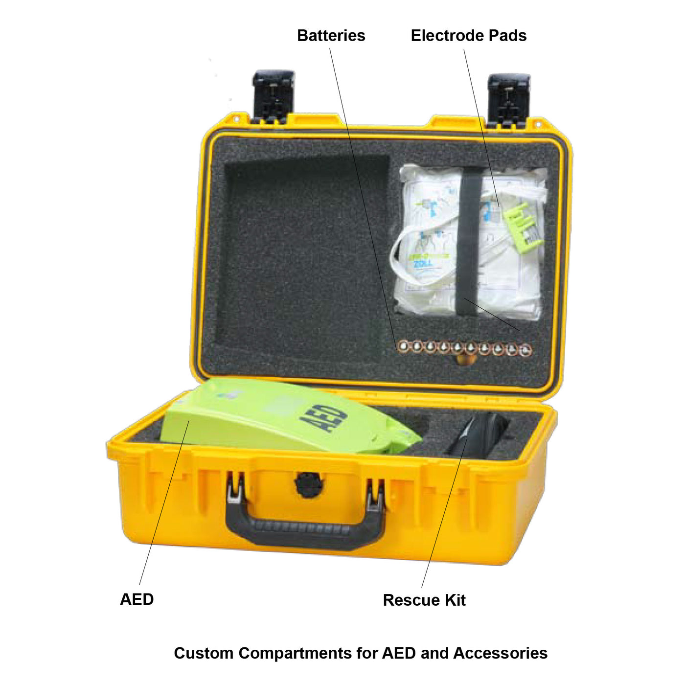 Shok Box® Watertight Carrying Case for the ZOLL AED Plus