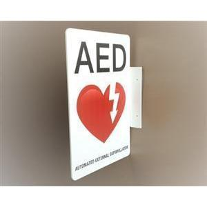 AED Wall Sign Flanged | AB 3201 - CarePoint Resources LLC