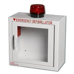 Compact AED Wall Cabinet, Surface Mount, Alarm & Strobe | 147SM-14R - CarePoint Resources LLC