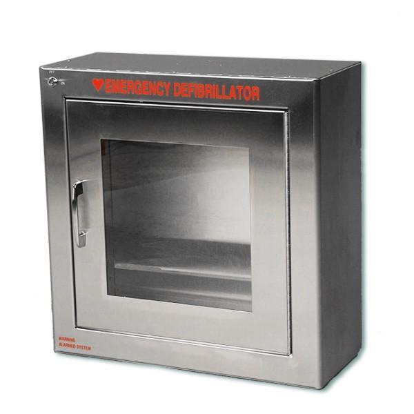 Compact AED Wall Cabinet, Surface Mount, Stainless Steel | 147SMSS - CarePoint Resources LLC