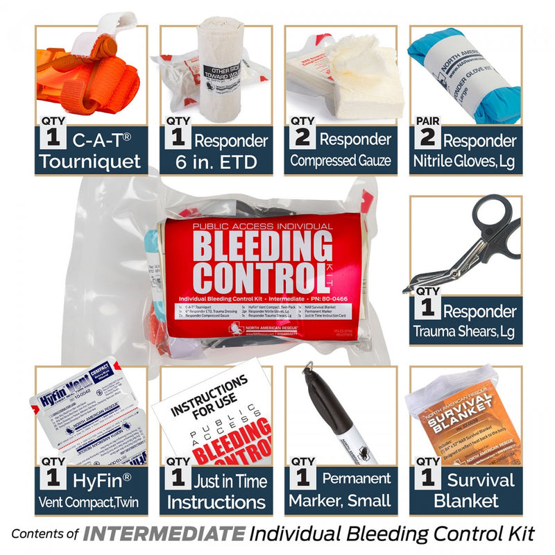 Public Access Bleeding Control Intermediate Kit