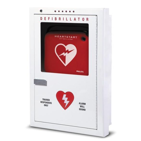 Philips Brand Premium Semi-Recessed AED Cabinet | PFE7023D - CarePoint Resources LLC
