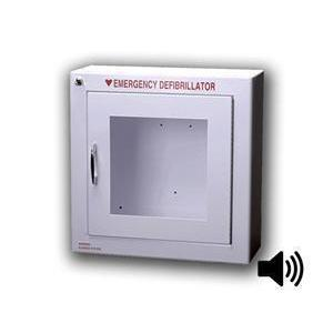 Small AED Wall Cabinet, Semi-Recessed, Alarmed | 145SR3-1 - CarePoint Resources LLC
