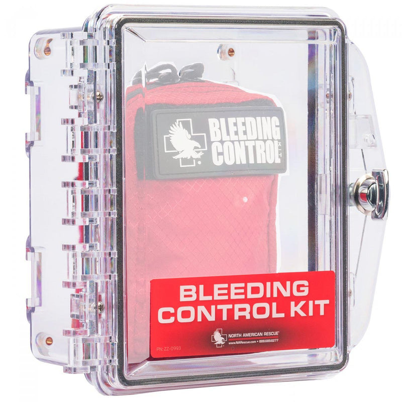 Individual Public Access Bleeding Control Clear Wall Case