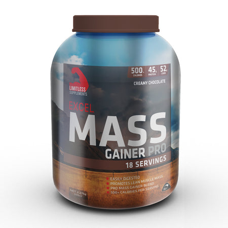Excel Mass Gainer Pro (SALE) - Limitless Supplements New Zealand