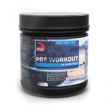 Inspire Pre Workout - Limitless Supplements New Zealand