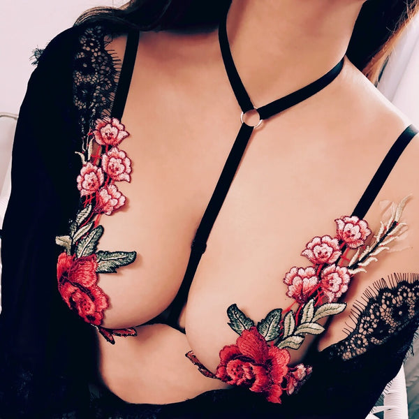 Sexy embroidered underwear