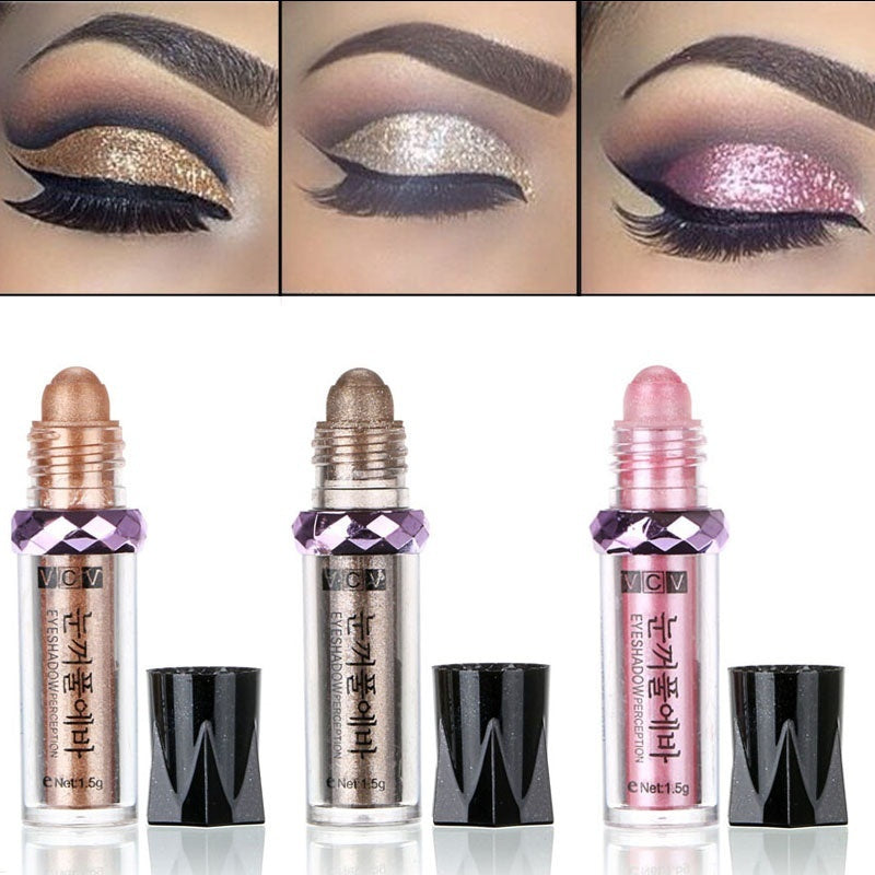 Women's Fashion GoldFOREVER 11 Colors Eye Balls Shiimer Gold Eyeshadow Pen Women Gilrs Long Lasting Mineral Shadow Makeup