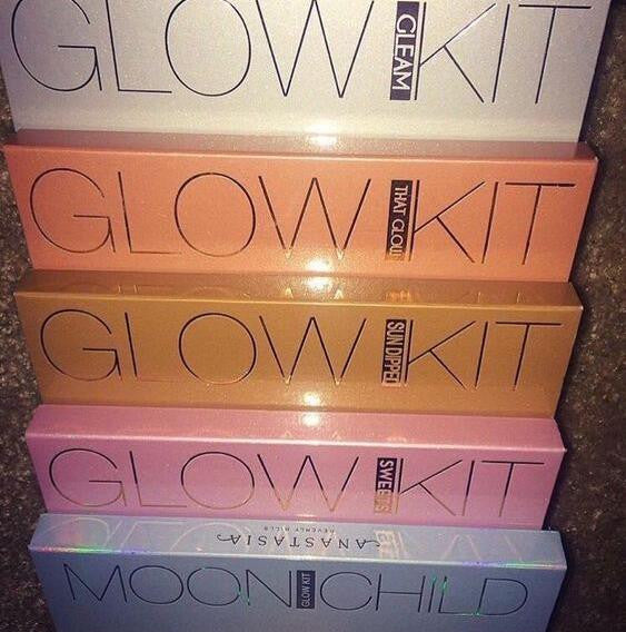 Anastasia Beverly Hills Glow Kit Palette make up 4 Colors Makeup Blusher Bronzer &Highlighter &Blush naked cosmetics