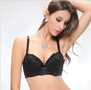 Women's Bra Thicken Adjustment Super Gather Water Bag Massage Lace Bra