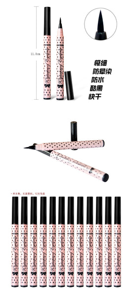 YANQINA 2 Pcs NEW Eyeliner Waterproof Liquid Eye Liner Pencil Pen Make Up Beauty Cosmetics