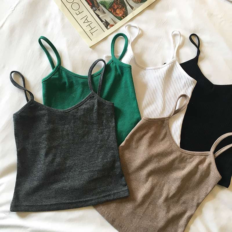 Screw Camisoles - White/Grey/Green/Black/Coffee