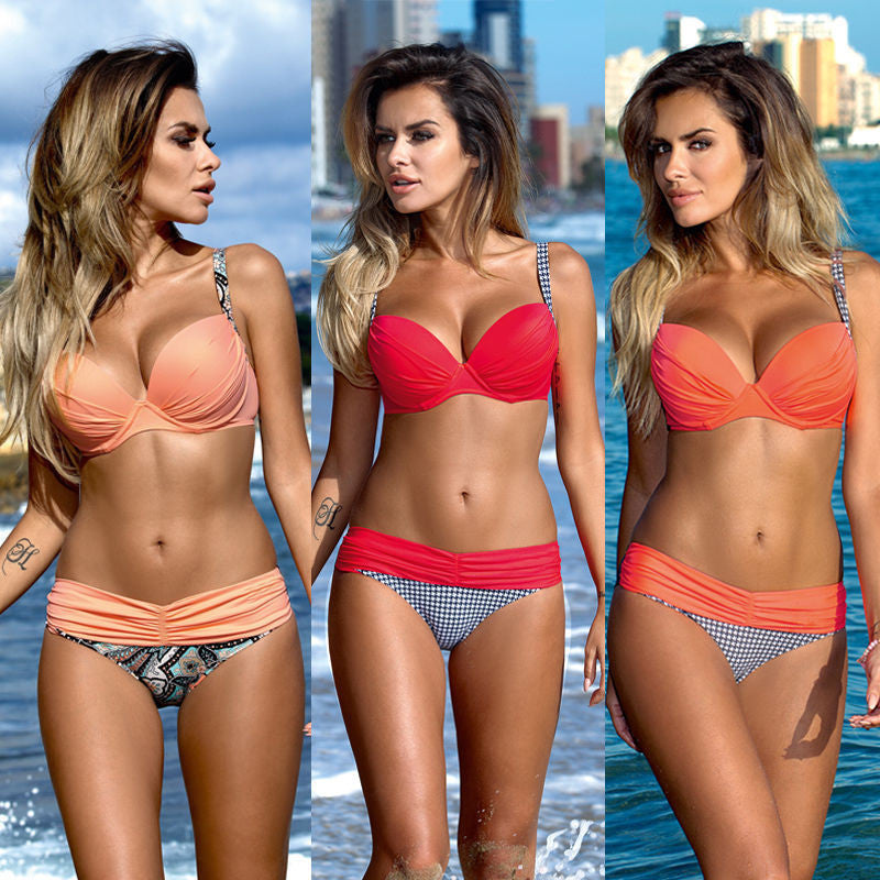 Women Beach Swimsuits Summer 2 Pieces Bikini Swimwear