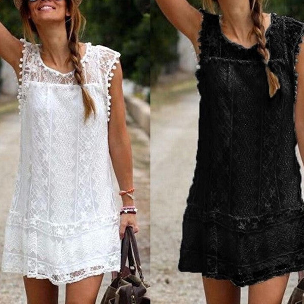 Sexy Women Casual Sleeveless Beach Short Dress