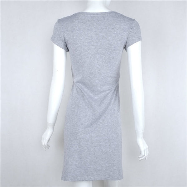 Short in front long split T-shirt